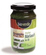 bio verde, Frischer Bärlauch in Öl, 165g Glas