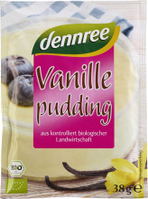 dennree, Vanillepudding, 3x 38g Beutel