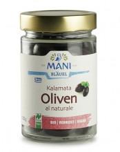 Mani-Bläuel, Kalamata Oliven al naturale, 205g Glas