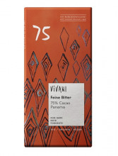 Vivani Bio-Genuss, Feine Bitter 75% Kakao, Panama, 80g Packung