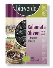 bio verde, Kalamata-Oliven mit frischen Kräutern, nicht erhitzt, 150g Schale