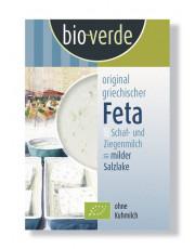 bio verde, Griechischer Feta aus Schaf- und Ziegenmilch in milder Salzlake, 200g Packung