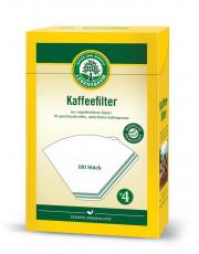 LEBENSBAUM, Kaffeefilter Papier, Gr. 4, 100 Stück, Packung