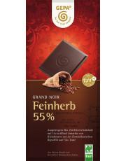 Gepa, Grand Noir Feinherb, 55% Kakao, 100g Tafel