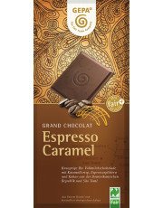 Gepa, Espresso Caramel, feine Vollmilch Schokolade, 38% Kakao, 100g Tafel