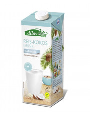 Allos, Reis-Kokos Drink naturell, 1l Tetra Pack