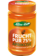 Allos, Frucht pur 75% Aprikose, 250g Glas