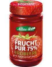 Allos, Frucht pur 75% Erdbeere, 250g Glas