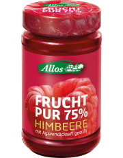 Allos, Frucht pur 75% Himbeere, 250g Glas