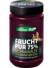 Allos, Frucht pur 75% Schwarze Johannisbeere, 250g Glas