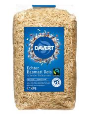 Davert, Echter Basmati-Reis braun, ungeschält, 500g Packung