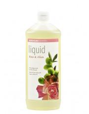 Sodasan, Naturpflege-Seife Liquid, Rose-Olive, flüssig, Nachfüllpack, 1l Flasche