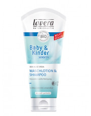 Lavera, Baby & Kinder Sensitiv Waschlotion und Shampoo, 200ml Tube
