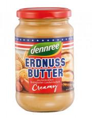 dennree, Erdnussbutter Creamy, 350g Glas
