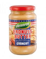 dennree, Erdnussbutter Crunchy, 350g Glas