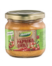 dennree, Streichcreme Paprika Chili, 180g Glas