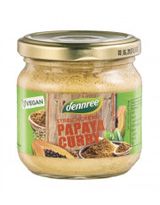 dennree, Streichcreme Papaya Curry, 180g Glas