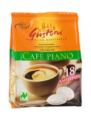 Gustoni, Café piano Kaffee-Pads (18x7g), 126g Packung
