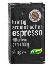 Dennree, Espresso, gemahlen, 100% Arabica, 250g Packung