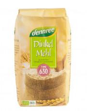 dennree, Dinkelmehl Typ 630, 1 kg Packung