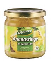 dennree, Ananas Ringe im eigenen Saft, 350g Glas (200g)