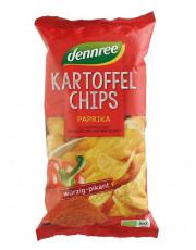 dennree, Kartoffelchips Paprika, 125g Packung