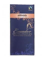 Naturata, Schokolade Edelvollmilch Ecuador 42%, 100g Tafel