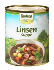 Ökoland, Linsensuppe, mit Würstchenscheiben, hefefrei, 800ml Dose
