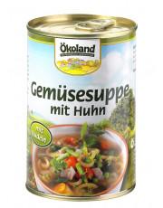 Ökoland, Gemüsesuppe mit Huhn, hefefrei, 400ml Dose