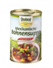 Ökoland, Mexikanische Bohnensuppe, hefefrei, vegetarisch, 400ml Dose