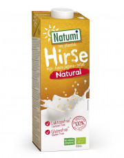Natumi, Hirsedrink natural, ungesüßt, 1l Tetra Pack