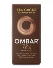 Ombar, 72% Rohkakao Roh Schokolade, 35g Tafel