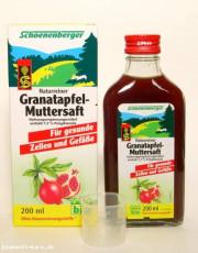 Schoenenberger, Granatapfel-Muttersaft, für gesunde Zellen und Gefäße, 200ml Flasche