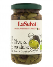 La Selva, Olive a rondelle, Oliven in Scheiben, 210g Glas