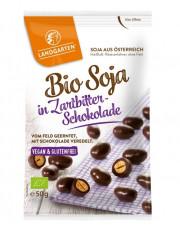 Landgarten, Bio-Soja in Zartbitter-Schokolade, 50g Beutel