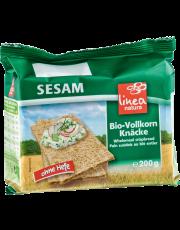 linea natura, Sesam Vollkorn Knäcke, 200 g Packung