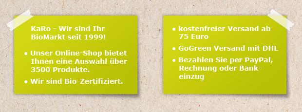 BioMarkt KaRo - Infos