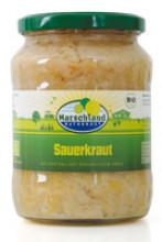 Marschland Naturkost, Sauerkraut, Bioland, 680g Glas