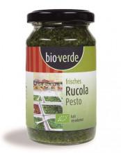 bio verde, Frisches Rucola Pesto, 165g Glas
