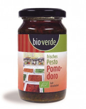 bio verde, Frisches Pesto Pomodoro, 165g Glas