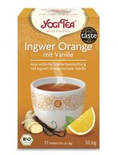 Golden Temple, Yogi Tea Ingwer Orange mit Vanille, 1,8g, 17Btl Packung
