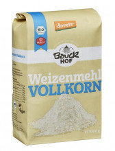 Bauckhof, Weizenmehl Vollkorn, 1kg Packung