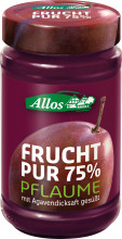 Allos, Frucht pur 75% Pflaume, 250g Glas