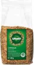 Davert, Leinsaat geschrotet, 200g Packung