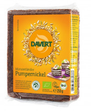 Davert, Münsterländer Pumpernickel, 250g Packung