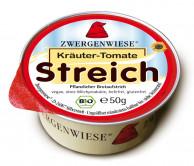 Zwergenwiese, Kräuter-Tomate Streich, 50g Schale