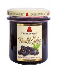 Zwergenwiese, FruchtGelee schwarze Johannisbeere, 195g Glas