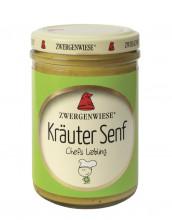 Zwergenwiese, Kräuter Senf, 160ml Glas