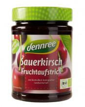 dennree, Fruchtaufstrich Sauerkirsche, 340g Glas