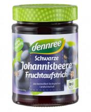 dennree, Fruchtaufstrich Schwarze Johannisbeere, 340g Glas